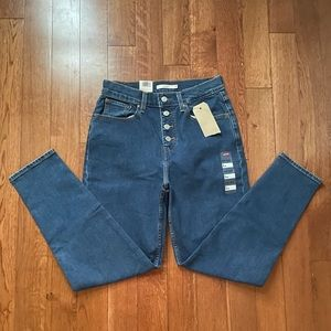 Levi's Exposed Button Women's Mom Jeans